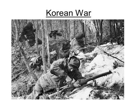 Korean War. I. Origins After WWII, a civil war broke out in China. Nationalists vs. Communists Led by Mao Zedong U.S. sent 2 billion in aid to the nationalists.