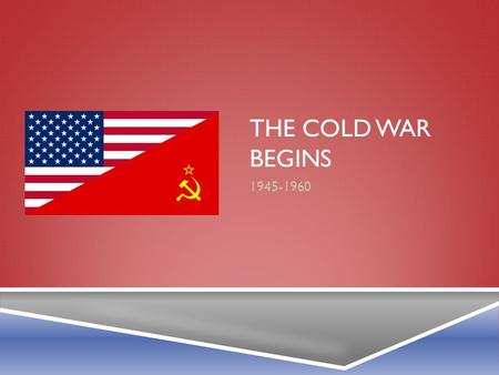 THE COLD WAR BEGINS 1945-1960. GEORGIA STANDARDS  SSUSH20 The student will analyze the domestic and international impact of the Cold War on the United.