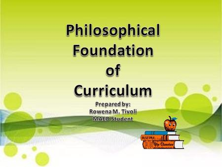 School Purposes Studies of Learners Suggestions from Subject Specialists Studies of Contempo- rary Life Use of Psycho- logy of Learning Use of Philosophy.