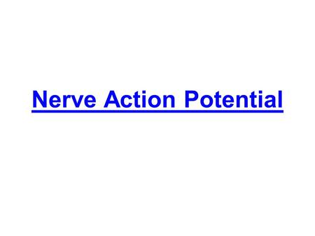 Nerve Action Potential. Nerve signals are rapid changes in the membrane potential that spread rapidly along the nerve fiber membrane by action potential.