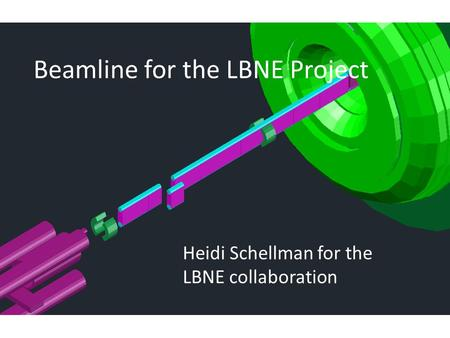 Beamline for the LBNE Project Heidi Schellman for the LBNE collaboration.