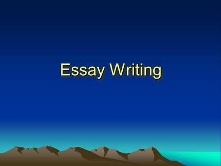 Essay Writing. Checking Exercises Criteria of a Good Composition To Be Informed and to Be Enlightened Getting more information is learning, and so is.