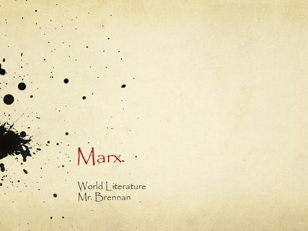Marx World Literature Mr. Brennan. Myth & Power How can religion be used to legitimize power? How can religion be used to keep an individual or group.