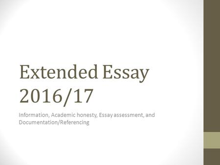 ib extended essay assessment criteria