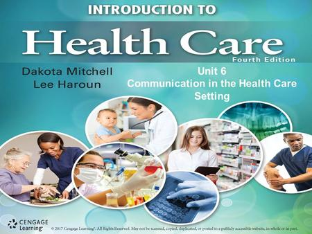 Unit 6 Communication in the Health Care Setting. Chapter 15 The Patient as an Individual.