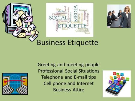 Business Etiquette Greeting and meeting people