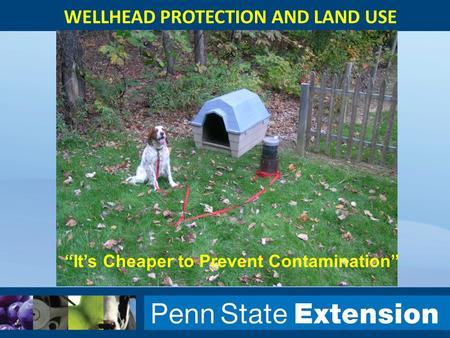 "WELLHEAD PROTECTION AND LAND USE ""It's Cheaper to Prevent Contamination"""
