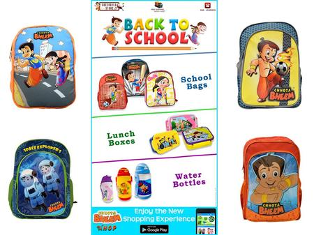 Grab Chhota Bheem School Bags Get ready for school with the new exciting range of Chhota Bheem And Friends Back To School merchandise in a different style.