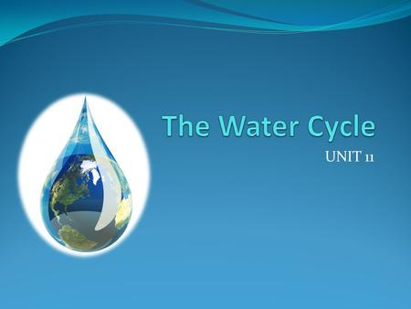 UNIT 11. What is the water cycle? Take a second to study the picture and talk to your table mates before you learn more.