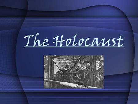 "The Holocaust. Persecution Begins April 4th, 1933: Hitler orders all ""_______________"" to be removed from all government jobs. One of the first moves."