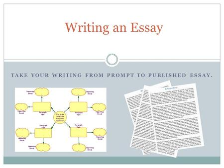 TAKE YOUR WRITING FROM PROMPT TO PUBLISHED ESSAY. Writing an Essay.