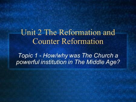 essay on church reformation Today there are many types of protestant churches where did they all begin to understand their origins, we need to go back to the early 16th century when there was only one church in western europe under the leadership of the pope in rome.