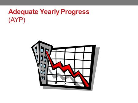 Adequate Yearly Progress (AYP). What is Adequate Yearly Progress (AYP)? As a condition of receiving federal funds under No Child Left Behind (NCLB), all.