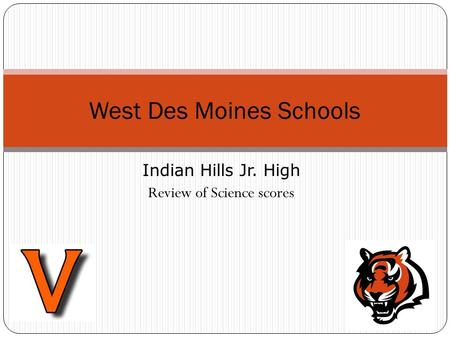Indian Hills Jr. High Review of Science scores West Des Moines Schools.