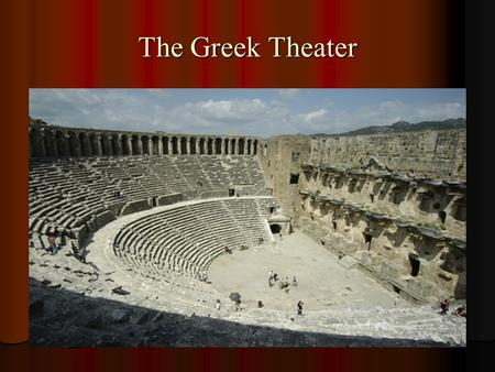 The Greek Theater. Origins of Greek Tragedy A. Early 700s B.C. 1. Tragedy comes from two Greek words: TRAGOI and OIDE meaning… GOAT and SONG 2. It was.