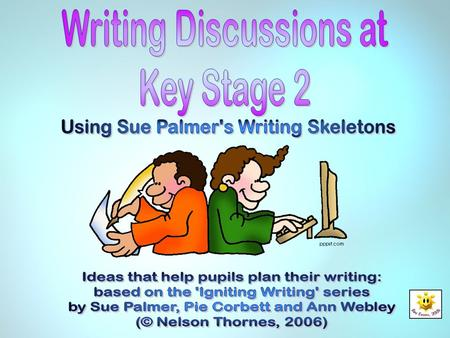 Writing Discussions at Key Stage 2