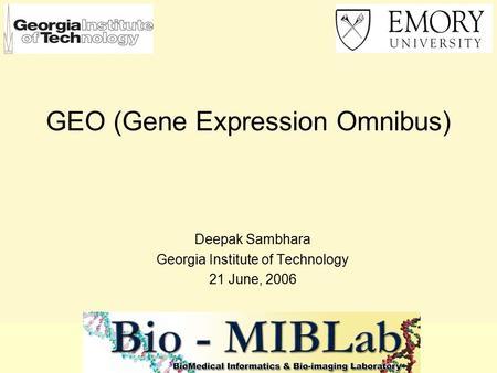 tutorial 8 gene expression analysis 1. how to interpret an