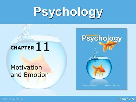 Psychology CHAPTER Motivation and Emotion 11. Module 27 Motivation.