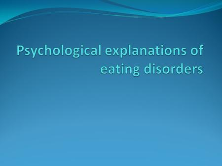 introduction to eating disorders essay