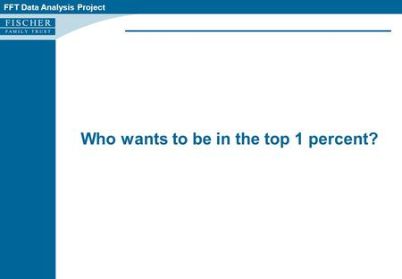 FFT Data Analysis Project Who wants to be in the top 1 percent?