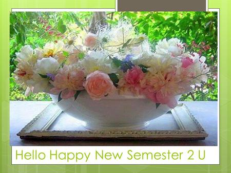 Hello Happy New Semester 2 U. Course Instructeur: Dr. Faiza ELhussien Welcome Everybody  Wish You nice  Successful  Amazing Course.
