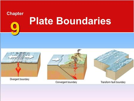 Chapter 9 Plate Boundaries.