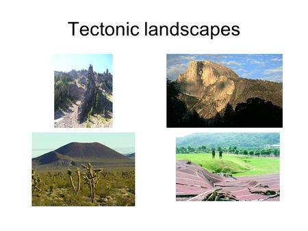 Tectonic landscapes. What impact does tectonic activity have on landscapes and why does this impact vary? Volcanic activity: Variations in the form,