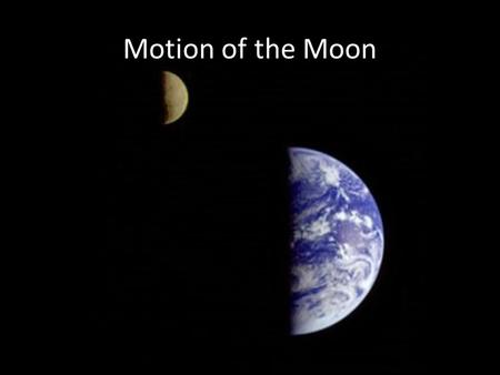 Motion of the Moon. Review Question Describe the path the Sun will take across the sky on the day of the autumnal equinox as viewed from the Earth's equator.