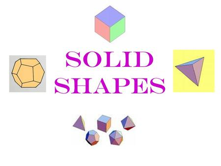 Solid Shapes. The basics ♥Polygon – 2 space ♥Polyhedron = 3 space ♥Polyhedra or Polyhedrons = plural ♥ A Polyhedron is a closed figure, made up of polygons.