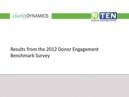 Results from the 2012 Donor Engagement Benchmark Survey.