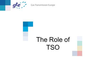 The Role of TSO. Madrid, 7-8 Feb. 2002 The Role of TSO2 The roles of industry players First vision of role of TSO in GTE position paper Industry players.