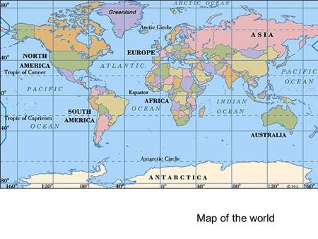 Map of the world. 1 1 1 1 1 1 1 Do the digits 1 have the same value? Think again.