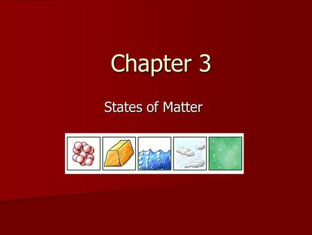 Chapter 3 States of Matter. Section 3.1 Solids, Liquids, and Gases.