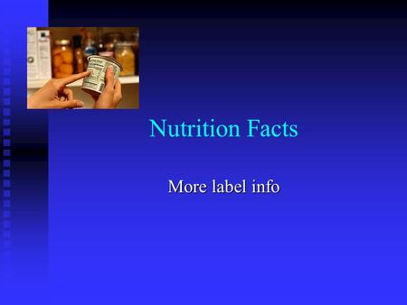 Nutrition Facts More label info. Fiber Soluble Insoluble Dissolves in H 2 O Dissolves in H 2 O Made of pectins, gums and mucilages Made of pectins, gums.