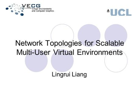 Network Topologies for Scalable Multi-User Virtual Environments Lingrui Liang.