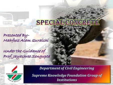 concrete the most important material in building