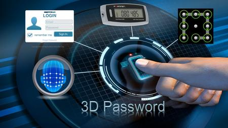 INTRODUCTION  The 3-D password is a multifactor authentication scheme.  It can combine all existing authentication schemes into a single 3-D virtual.