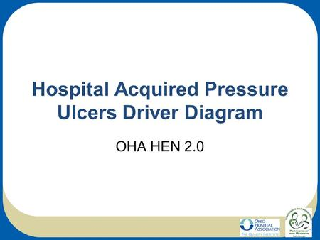 Hospital Acquired Pressure Ulcers Driver Diagram