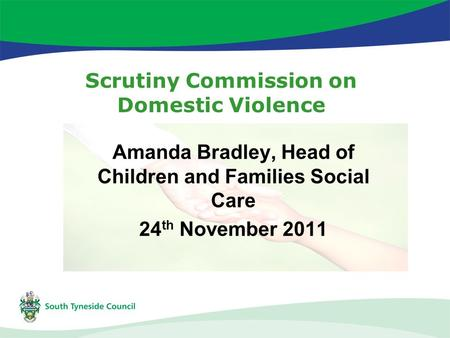 Scrutiny Commission on Domestic Violence Amanda Bradley, Head of Children and Families Social Care 24 th November 2011.