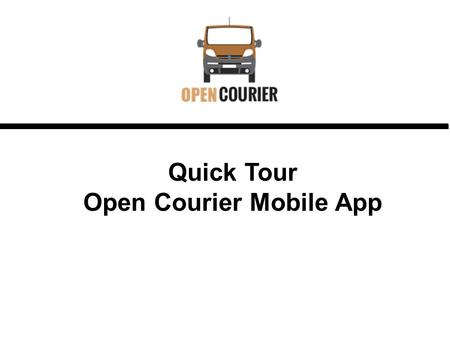 Open Courier Mobile App