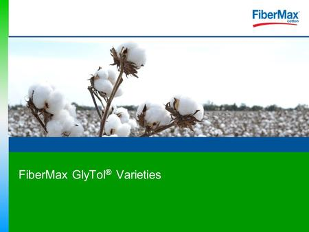 FiberMax GlyTol ® Varieties. Bayer CropScience LP, 2 T.W. Alexander Drive, Research Triangle Park, NC 27709. Always read and follow label instructions.