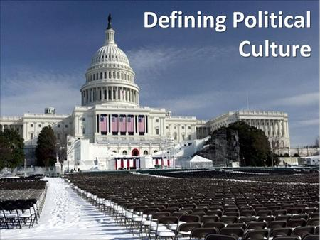 Defining Political Culture. Political Culture – the collection of political beliefs, values, practices, and institutions that the government is based.