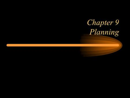 Chapter 9 Planning. 222 Learning Objectives  clearly defining the project objective  developing a work breakdown structure  developing a network diagram.