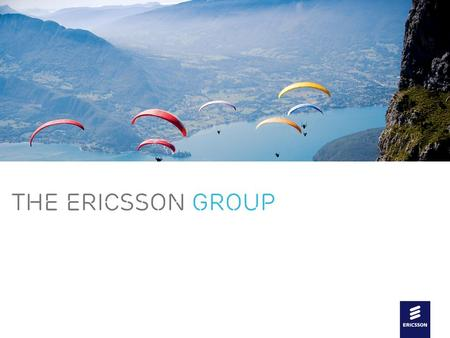 Slide title In CAPITALS 44 pt Slide subtitle 20 pt THE ERICSSON GROUP.