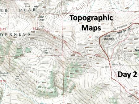 "Topographic Maps Day 2. Topographic Maps Objective – ""I will be able to compare and contrast latitude with longitude."" Essential Question – ""Besides the."