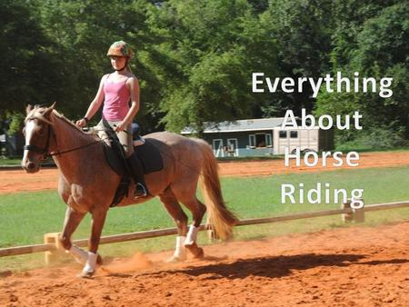 "Equestrianism Horseback Riding is also known as ""Equestrianism"" It is the action of sitting on a horse's back while controlling its movements. Horse Riding."