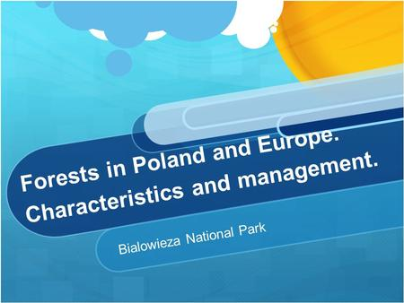 Forests in Poland and Europe. Characteristics and management. Bialowieza National Park.