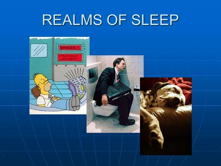 REALMS OF SLEEP. 1950s Little was known about the physiology, or function, of sleep Little was known about the physiology, or function, of sleep Nathaniel.