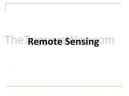 Remote Sensing. Content Introduction What is remote sensing? History of Remote Sensing Applications of Remote Sensing Components Advantages Disadvantages.