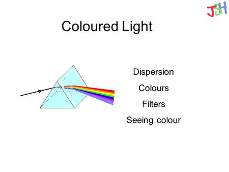 Coloured Light Dispersion Colours Filters Seeing colour.